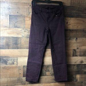 J Brand Deep Burgundy Skinny Jeans